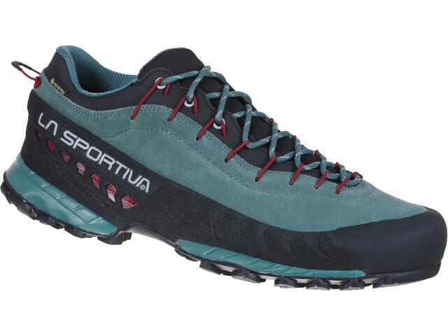La Sportiva TX4 GTX Zapatillas Hombre, Azul petróleo/rojo